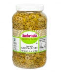 Ambrosia Sliced Green Olives without Pimento, 1 gal.